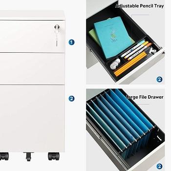 BEST LOCKED 3-DRAWER FILE CABINET WHITE