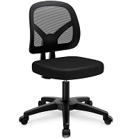 BEST NO ARMS MESH BACK AND SEAT OFFICE CHAIR 2Summary