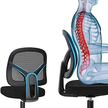 BEST NO ARMS MESH BACK AND SEAT OFFICE CHAIR2