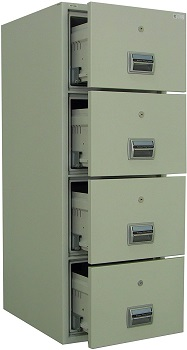 BEST OFFICE 4-DRAWER FIREPROOF FILE CABINET