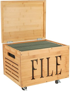 BEST ON WHEELS BAMBOO FILE CABINET