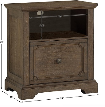 BEST SMALL ANTIQUE WOOD FILE CABINET