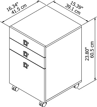 BEST WOOD 3-DRAWER FILE CABINET WHITE