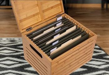 BirdRock Home Rolling File Storage