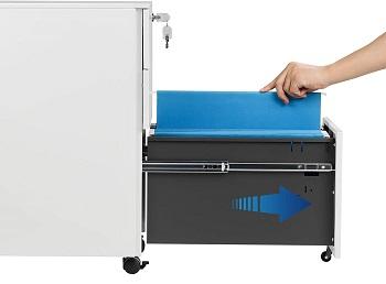 DEVAISE Slim File Cabinet with Lock
