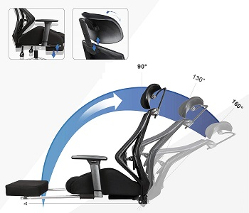 Devaise Adjustable Headrest Chair