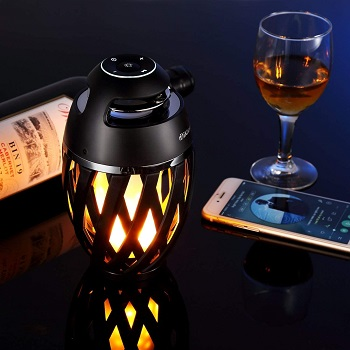 DiKaou LED Flame Outdoor Table Lamp