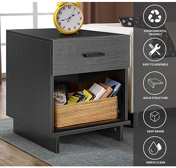EROMMY Nightstand with Drawers