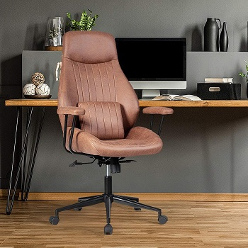 Giantex Suede Leather Office Chair