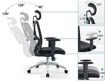 Ticovac M8 High-Back Desk Chair