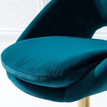 Tina's Home Velvet Fabric Chair