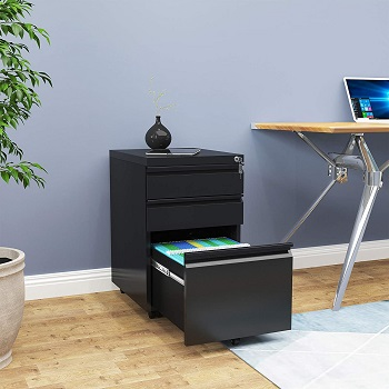 YITAHOME 3-Drawer Rolling
