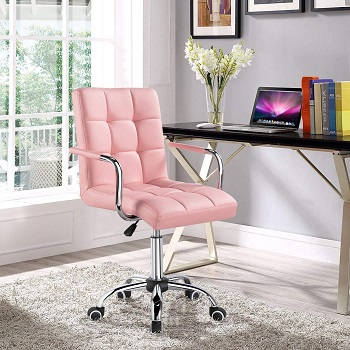 Yaheetech Leather Office Chair