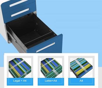 intergreat blue file cabinet