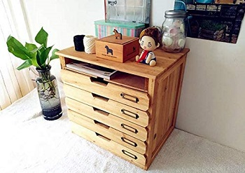 5 Flat Drawer Organizer for Home or Office Desk