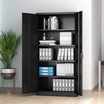 AOBABO Metal Storage Cabinet with 2 Door