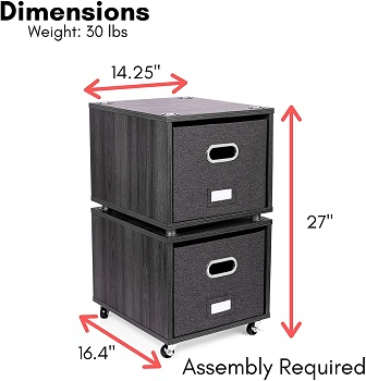 BEST 2-DRAWER FILING CABINET BOX