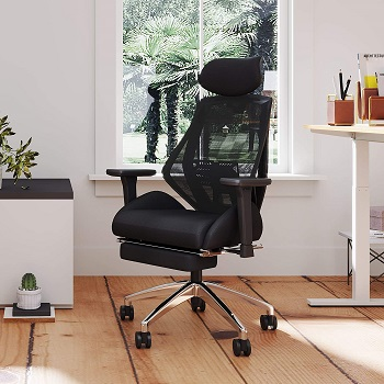 BEST ADJUSTABLE EXECUTIVE CHAIR WITH FOOTREST