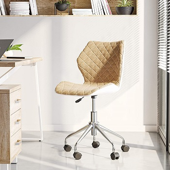 BEST ARMLESS COMFORTABLE AND STYLISH OFFICE CHAIR