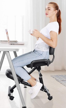 BEST ARMLESS COMFORTABLE DESK CHAIR WITH WHEELS