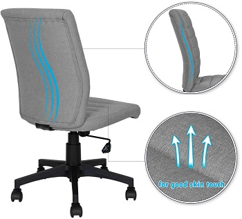 BEST ARMLESS OFFICE CHAIR 300 LB WEIGHT CAPACITY