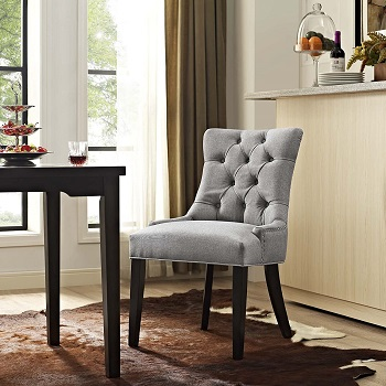 BEST ARMLESS UPHOLSTERED DESK CHAIR NO WHEELS