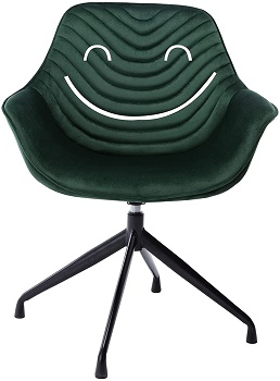 BEST ARMRESTS UPHOLSTERED DESK CHAIR WITHOUT WHEELS