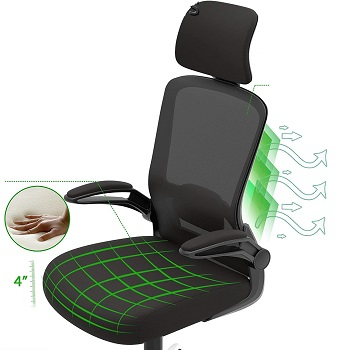 BEST BACK SUPPORT ERGONOMIC CHAIR WITH HEADREST