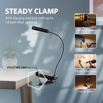 BEST CLIP ON SMALL READING LAMP