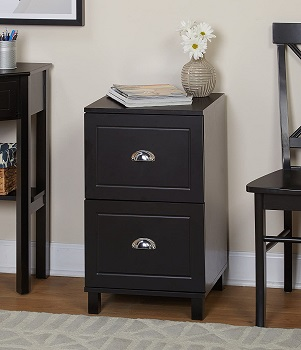 BEST COMPACT 2-DRAWER WOODEN FILING CABINET