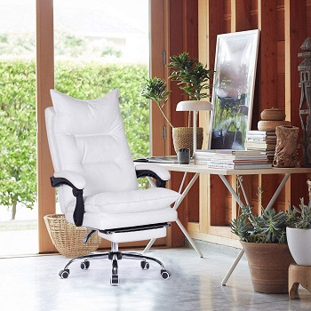 BEST ERGONOMIC EXECUTIVE CHAIR WITH FOOTREST