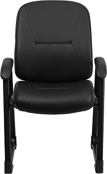 BEST LEATHER BLACK DESK CHAIR WITHOUT WHEELS