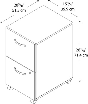 BEST OF BEST 2-DRAWER WOODEN FILING CABINET FOR HOME