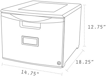 BEST PLASTIC FILING CABINET BOX