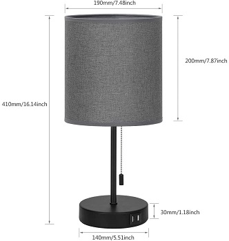 BEST READING SMALL DESK LAMP WITH SHADE