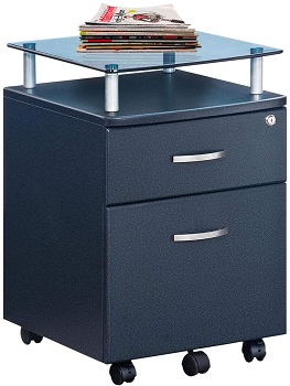 BEST SMALL 2-DRAWER FILE CABINET WITH WHEELS