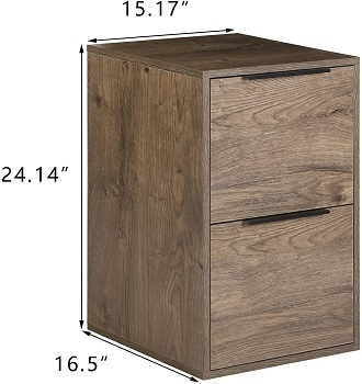 BEST SMALL 2-DRAWER WOODEN FILING CABINET