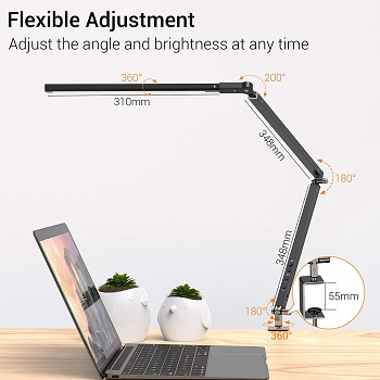 BEST SWING ARM OFFICE LAMPS NATURAL LIGHT