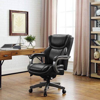 BEST WITH ARMRESTS COMFORTABLE LEATHER OFFICE CHAIR