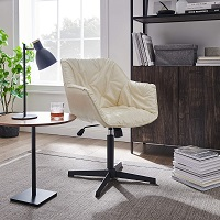 BEST WITH ARMRESTS MID CENTURY MODERN OFFICE CHAIR NO WHEELS Summary