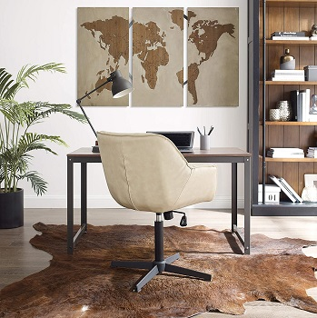 BEST WITH ARMRESTS MID CENTURY MODERN OFFICE CHAIR NO WHEELS