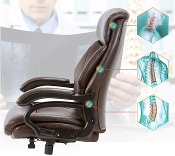 BEST WITH ARMRESTS OFFICE CHAIR RATED OVER 300 LBS