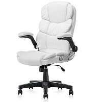 BEST WITH ARMRESTS WHITE COMFY DESK CHAIR Summary