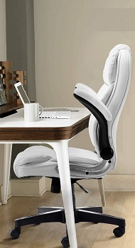 BEST WITH ARMRESTS WHITE COMFY DESK CHAIR