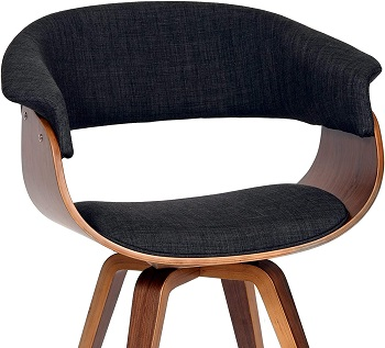 BEST WITH BACK SUPPORT WOOD DESK CHAIR NO WHEELS