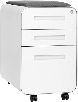 BEST WITH SEAT 3-DRAWER MOBILE FILE CABINET