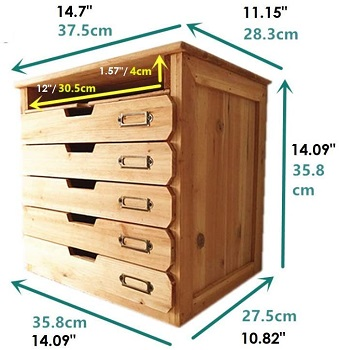 BEST WOOD FILING CABINET BOX