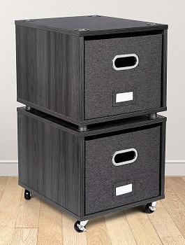 BirdRock Home Rolling File Cabinet with 2 Lateral