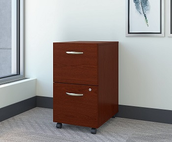 Bush Business Furniture Series C 2 Drawer Mobile File Cabinet in Mahogany