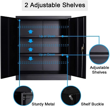 Full Metal Storage Cabinet with 2 Adjustable